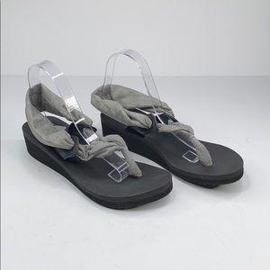 Sanuk grey black Yoga Sling 2 sandals - 10
